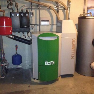 delmelle energies chaudière Okofen PES avec boiler + silo textile