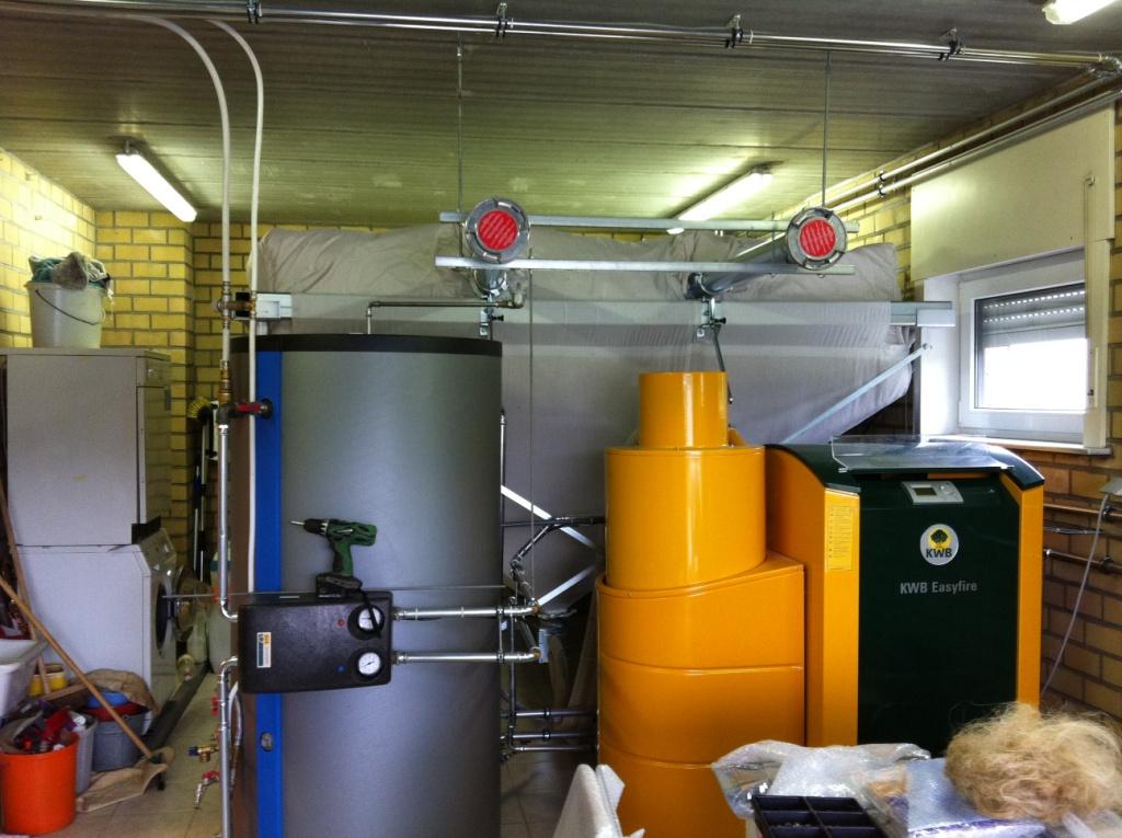 Delmelle Energies chaudière KWB silo textile et boiler