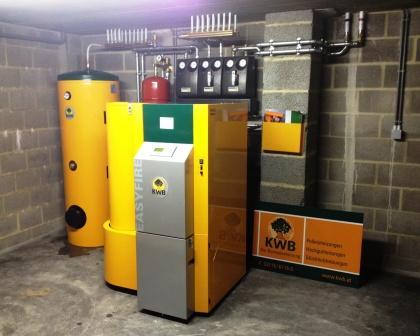 Delmelle Energies chaudière KWB silo intégré et boiler