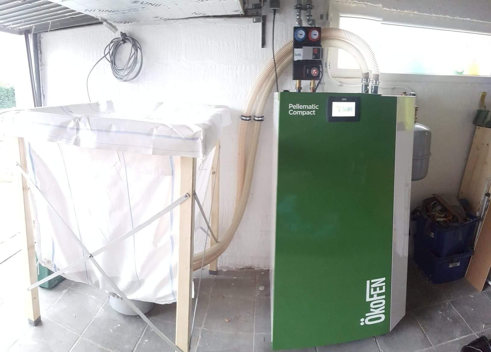 Delmelle Energies Okofen Compact avec silo textile